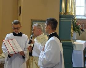 Święcenia diakonatu w par. Trójcy Świętej w Jędrzejowie