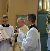 Święcenia diakonatu wparafii Trójcy Świętej wJędrzejowie